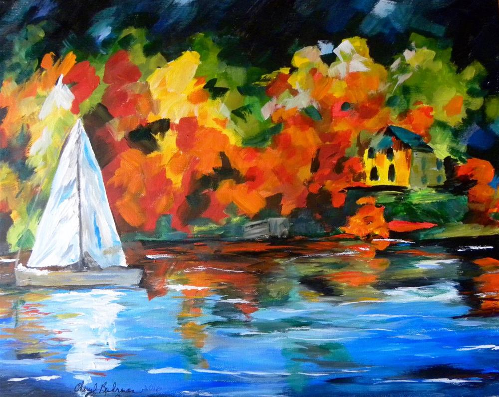 """Sailing By"" original fine art by cheryl buhrman"