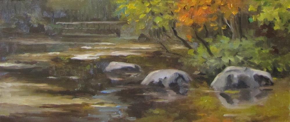 """61 - Wright Woods Rocks"" original fine art by Edward Watson"