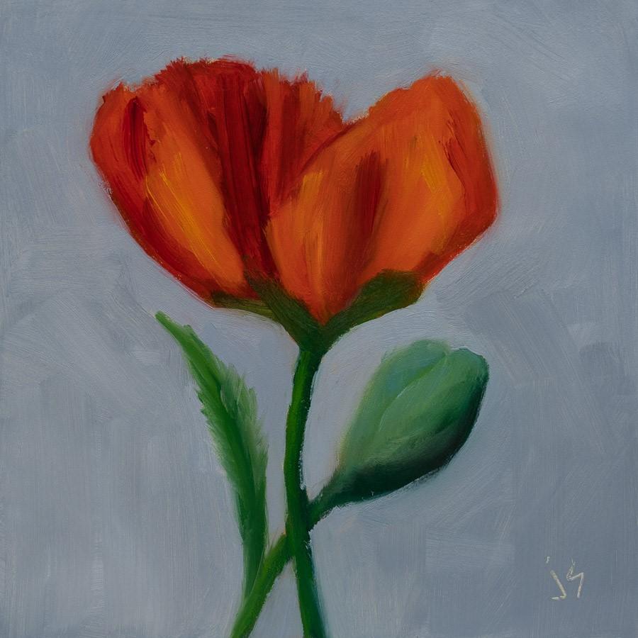 """Poppy and Bud"" original fine art by Johnna Schelling"