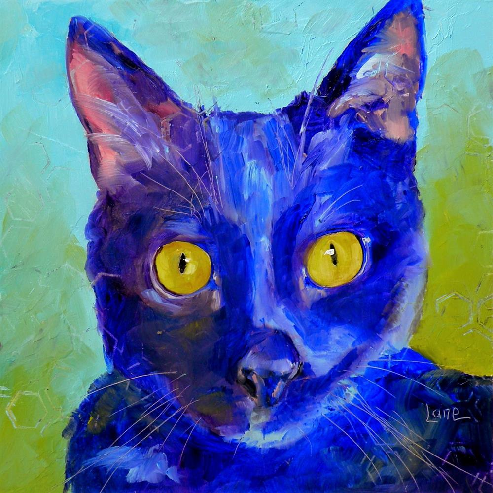 """KIKI 99/101 OF 101 PET PORTRAITS IN 101 DAYS © SAUNDRA LANE GALLOWAY"" original fine art by Saundra Lane Galloway"