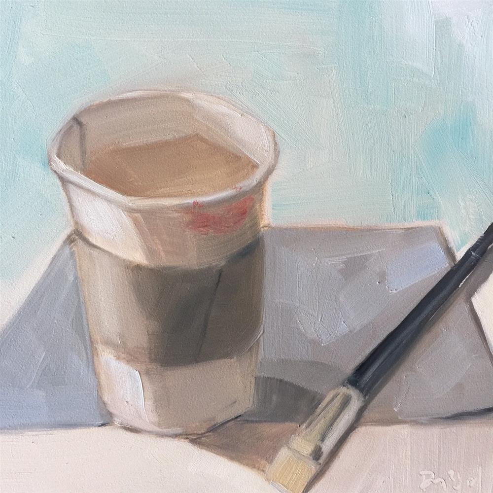 """""""376 Cafe Americano"""" original fine art by Jenny Doh"""