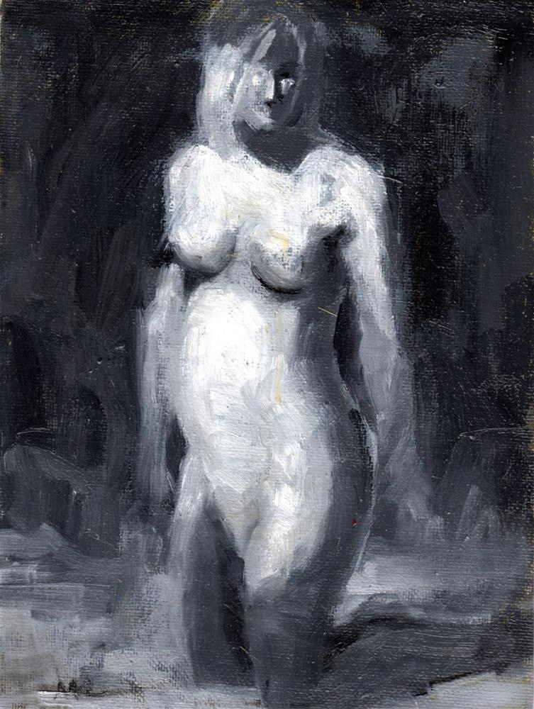 """Nude Contemplating"" original fine art by Marlene Lee"