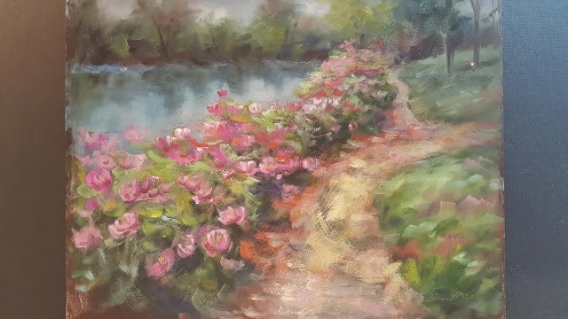 """""""Along the Peony Path"""" original fine art by Tammie Dickerson"""