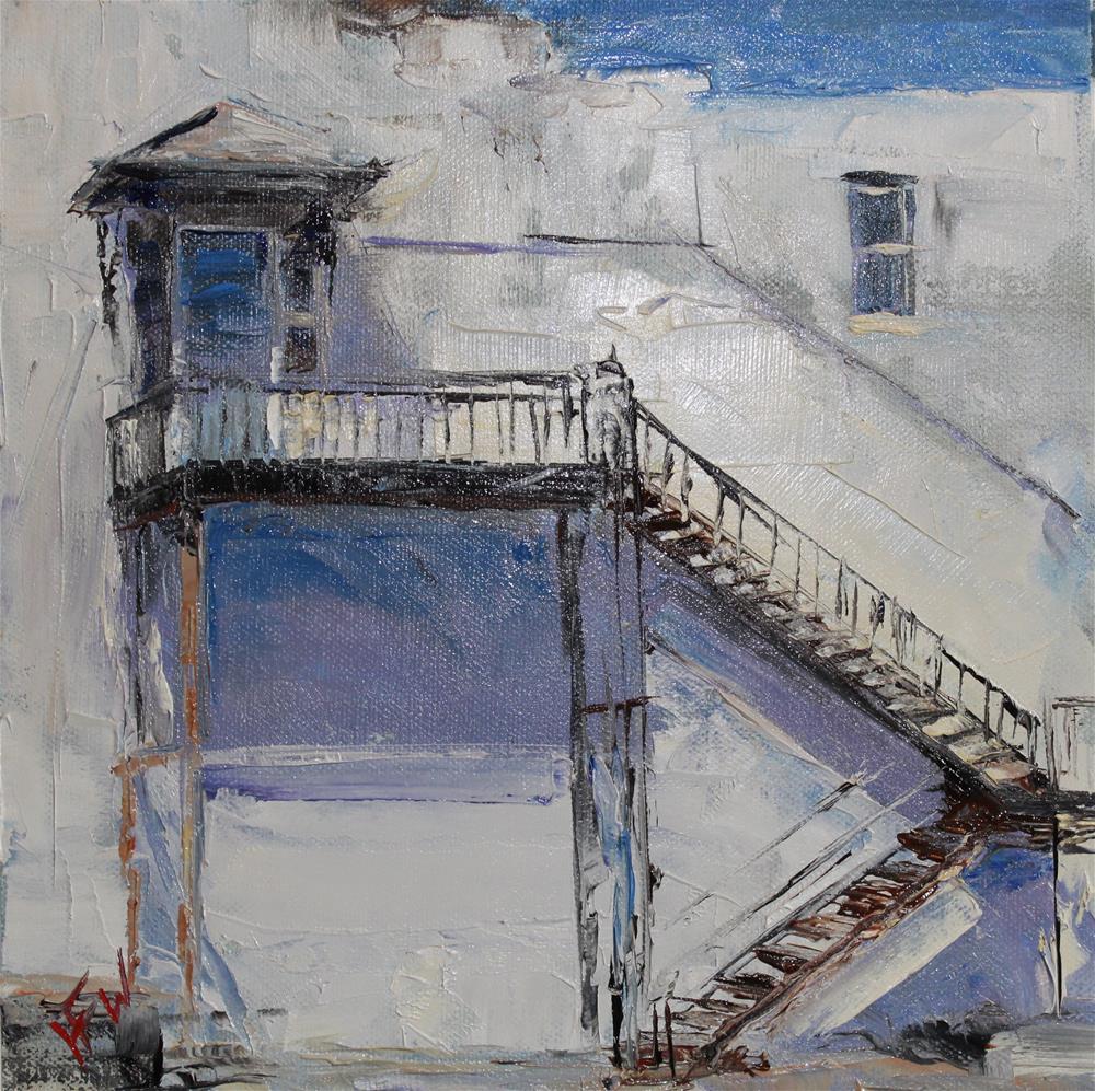 """Shady Balcony"" original fine art by H.F. Wallen"