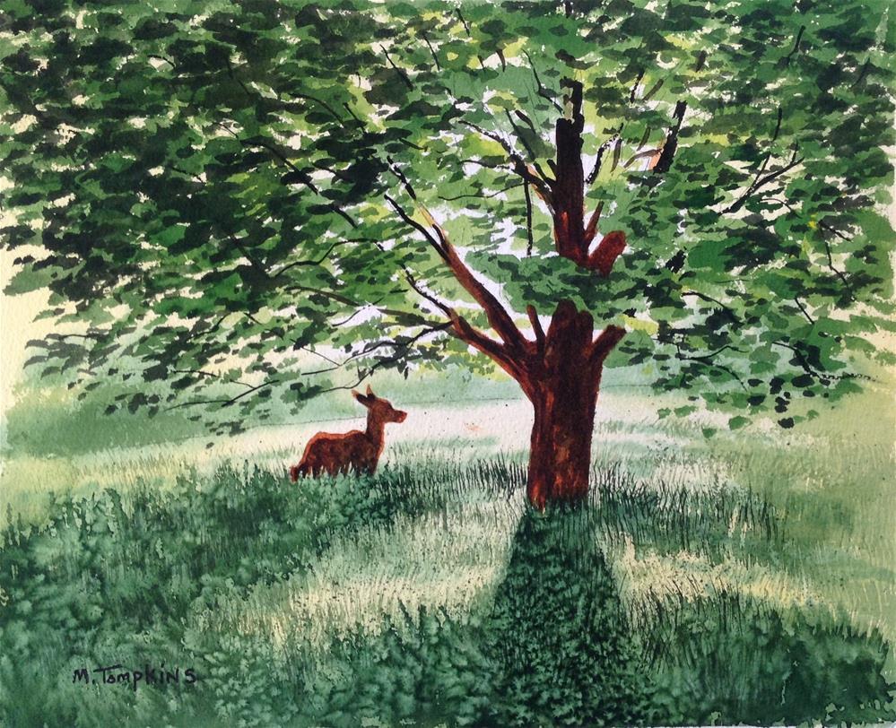 """Fields of Green"" original fine art by Mark Tompkins"