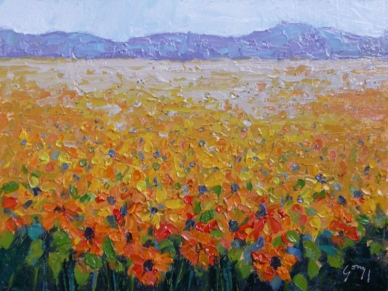 """Sunflowers"" original fine art by Doug Gorrell"