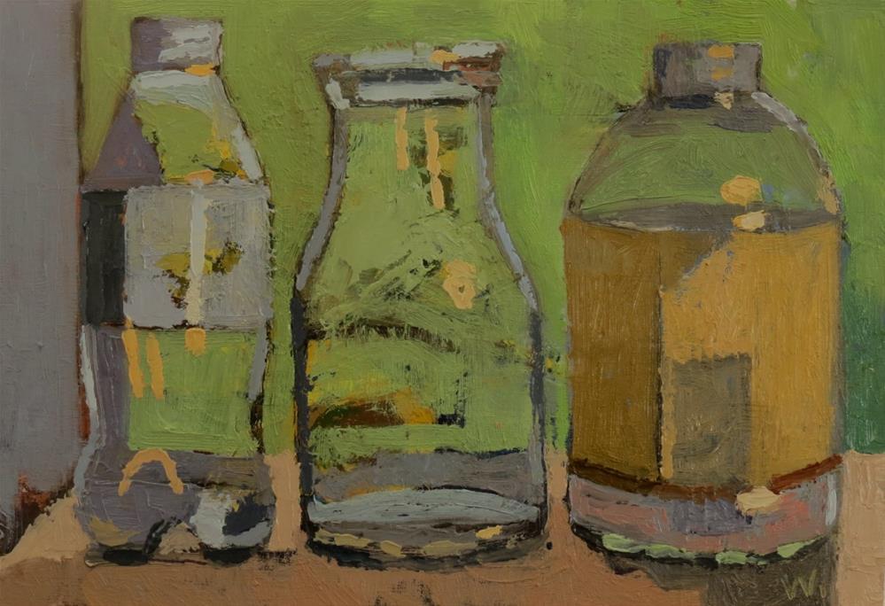 """Misty Morning"" original fine art by Joan Wiberg"