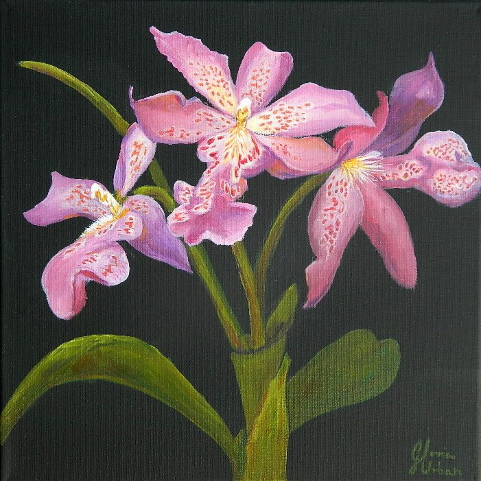 """Purple Vanda Orchid"" original fine art by Gloria Urban"