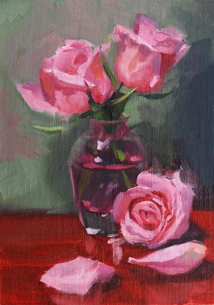 """No. 693 Perrin Rose #2"" original fine art by Susan McManamen"