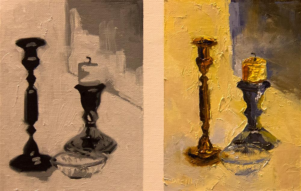 """Yellow Candle"" original fine art by Daryl Lyn King"