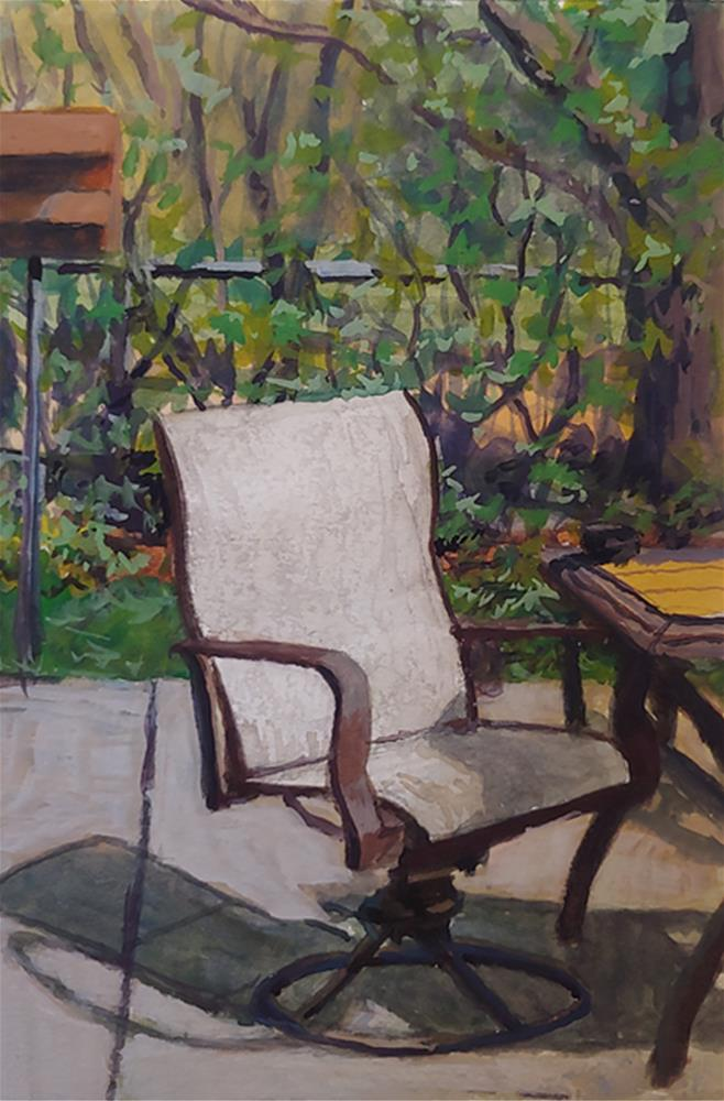 """Kitchen View"" original fine art by Edward Watson"