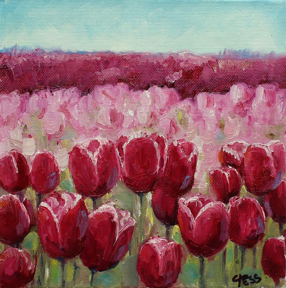"""Springtime in Washington"" original fine art by Tess Lehman"