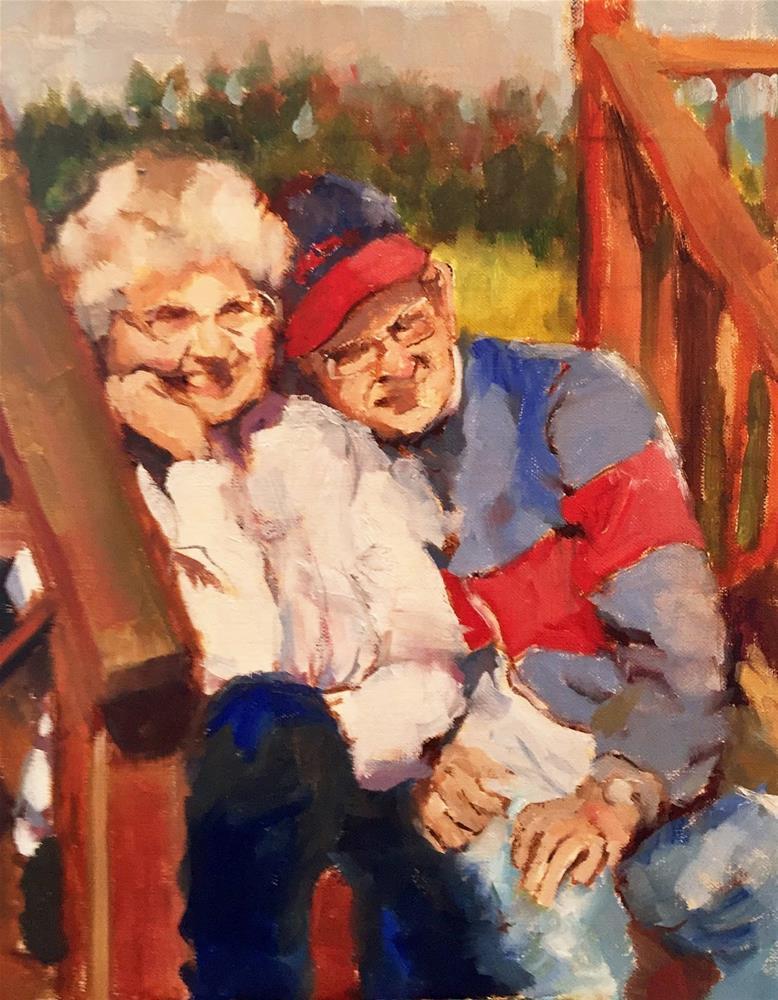 """Love"" original fine art by Marcia Hodges"