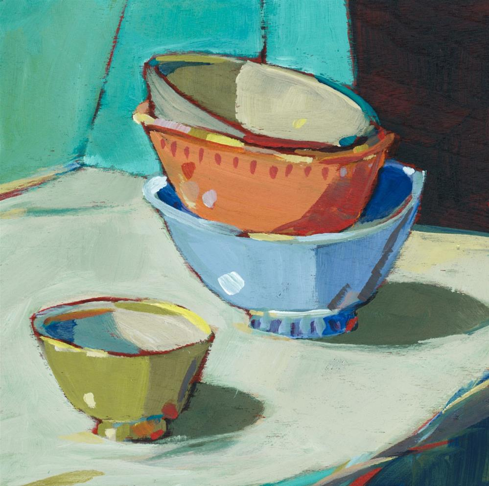 """0717: Prep Bowls"" original fine art by Brian Miller"
