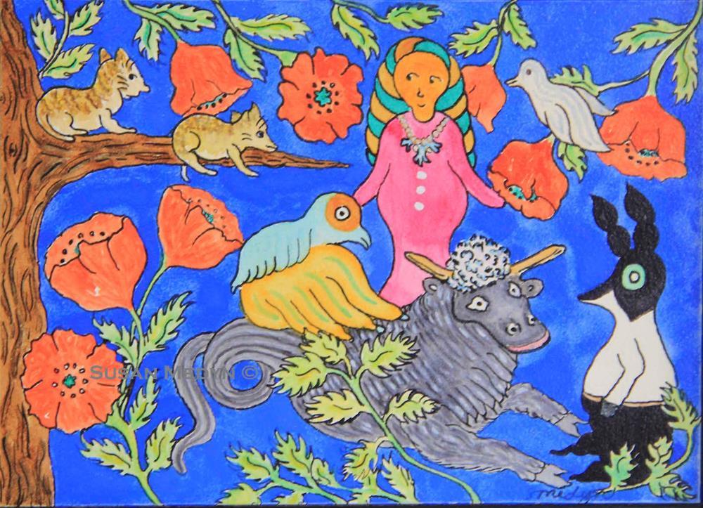 """Venus Ascending"" original fine art by Susan Medyn"