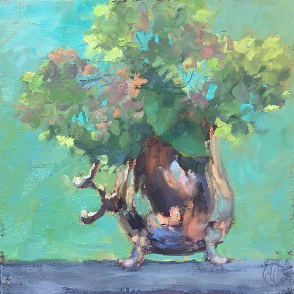 """""""easy being green"""" original fine art by Dottie  T  Leatherwood"""