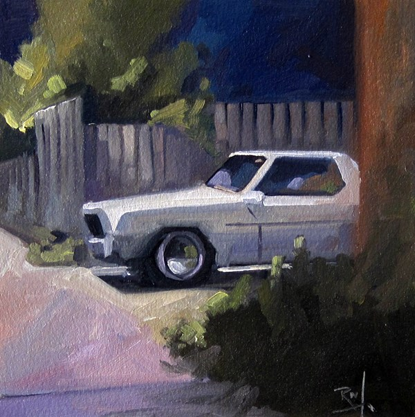 """No 809 Driveway Treaures No4"" original fine art by Robin J Mitchell"