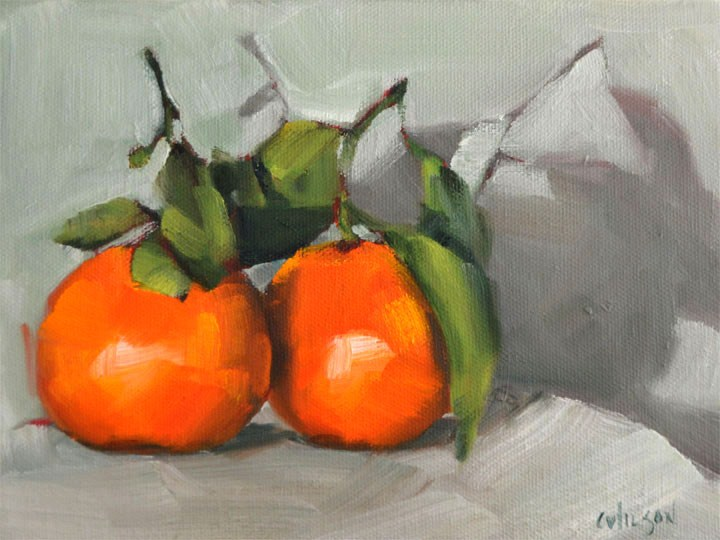 """Mandarin Pair"" original fine art by Cheryl Wilson"