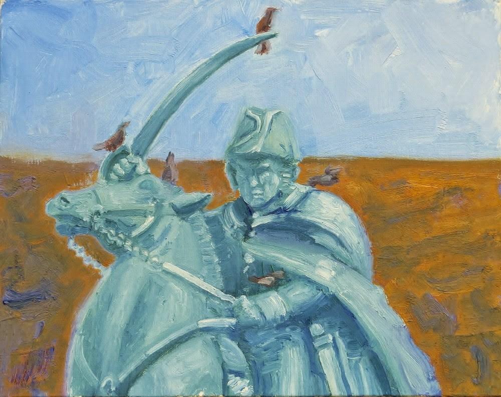 """Being a Hero is for the Birds"" original fine art by Richard Kiehn"