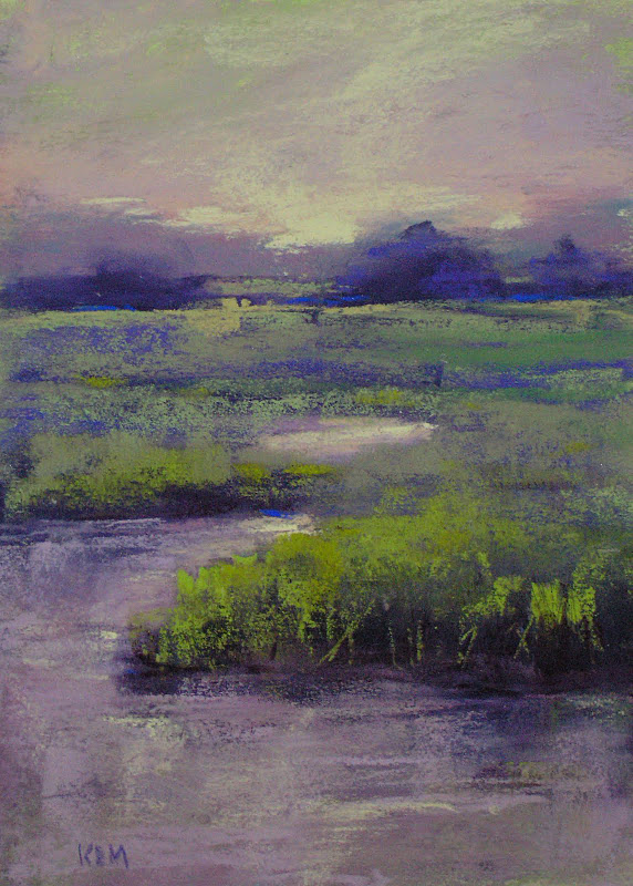 """Lavender Marsh"" original fine art by Karen Margulis"