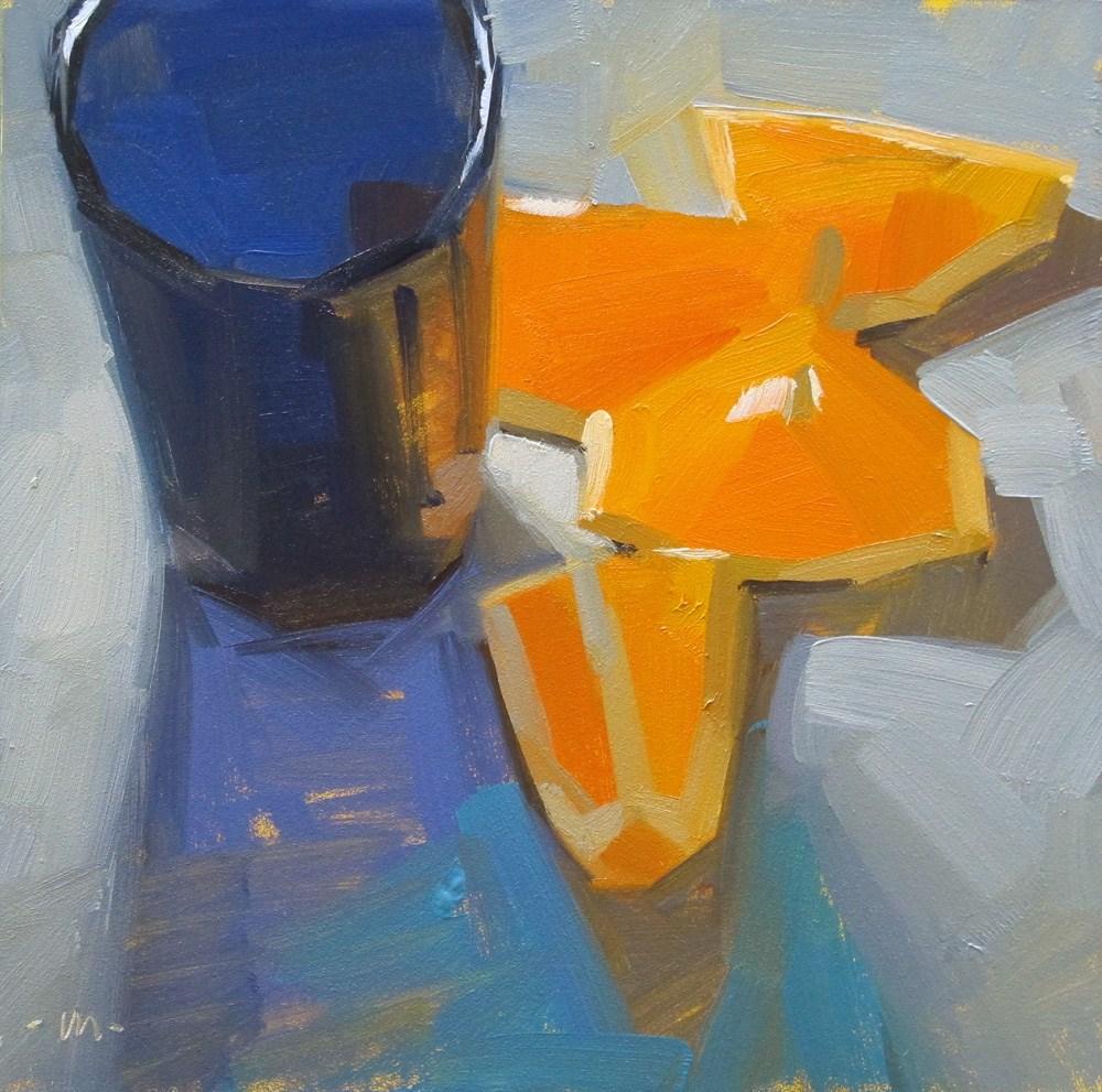 """Into Blue Shadows"" original fine art by Carol Marine"