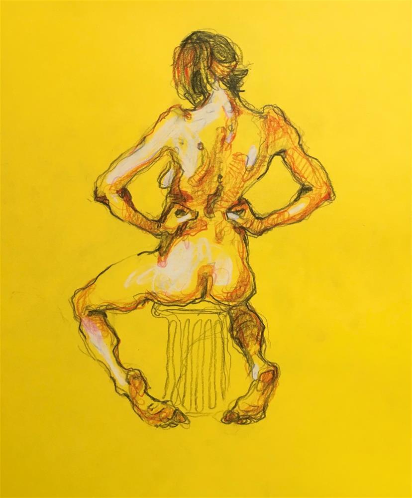 """Figure90"" original fine art by Katya Minkina"