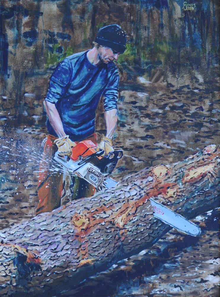 """""""Bucking"""" original fine art by Fred Jones"""