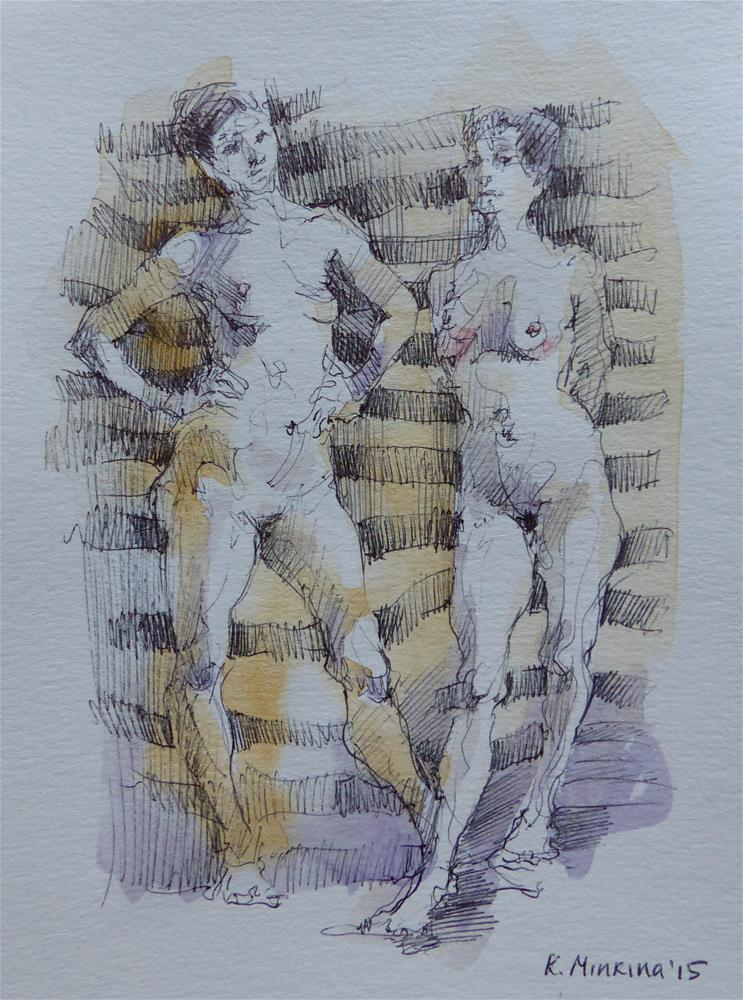 """sketchbook#11"" original fine art by Katya Minkina"