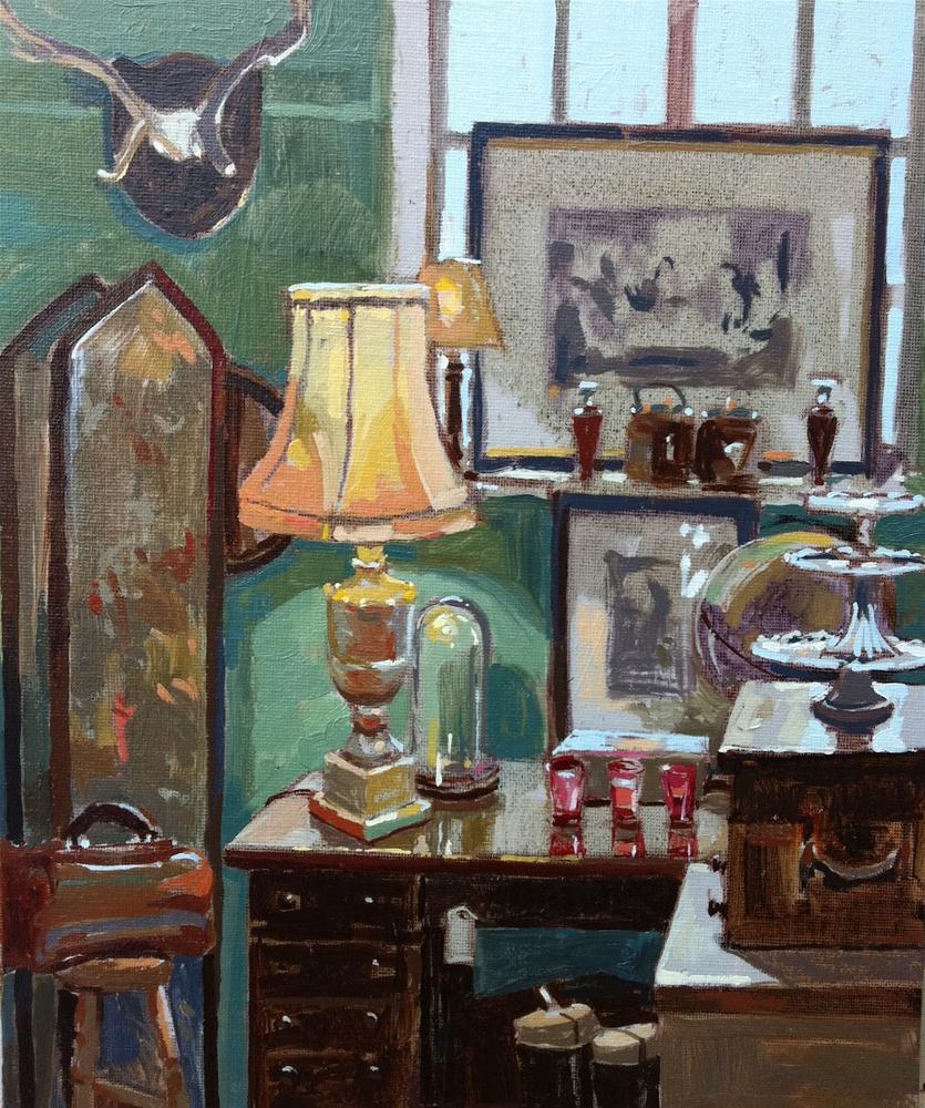 """Corelli antiques"" original fine art by Haidee-Jo Summers ROI"