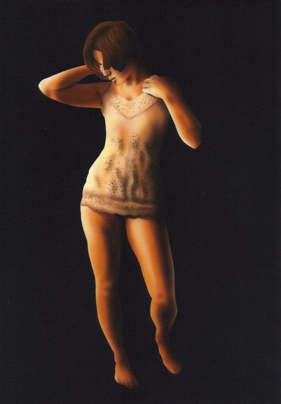 """""""Figure Study in Darkness"""" original fine art by Fred Schollmeyer"""
