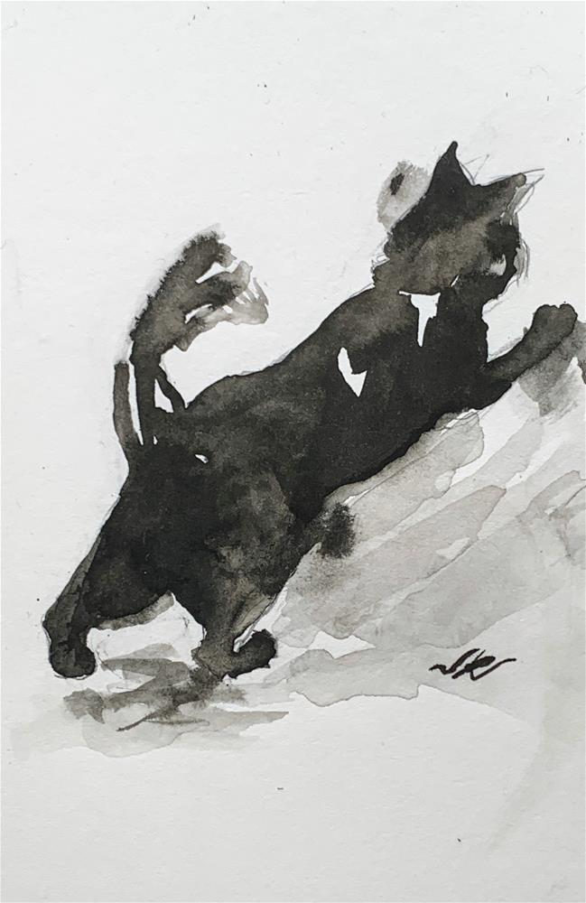 """Daily Cat 65"" original fine art by Jean Krueger"