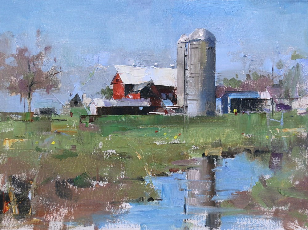 """""""Amish Country"""" original fine art by Qiang Huang"""