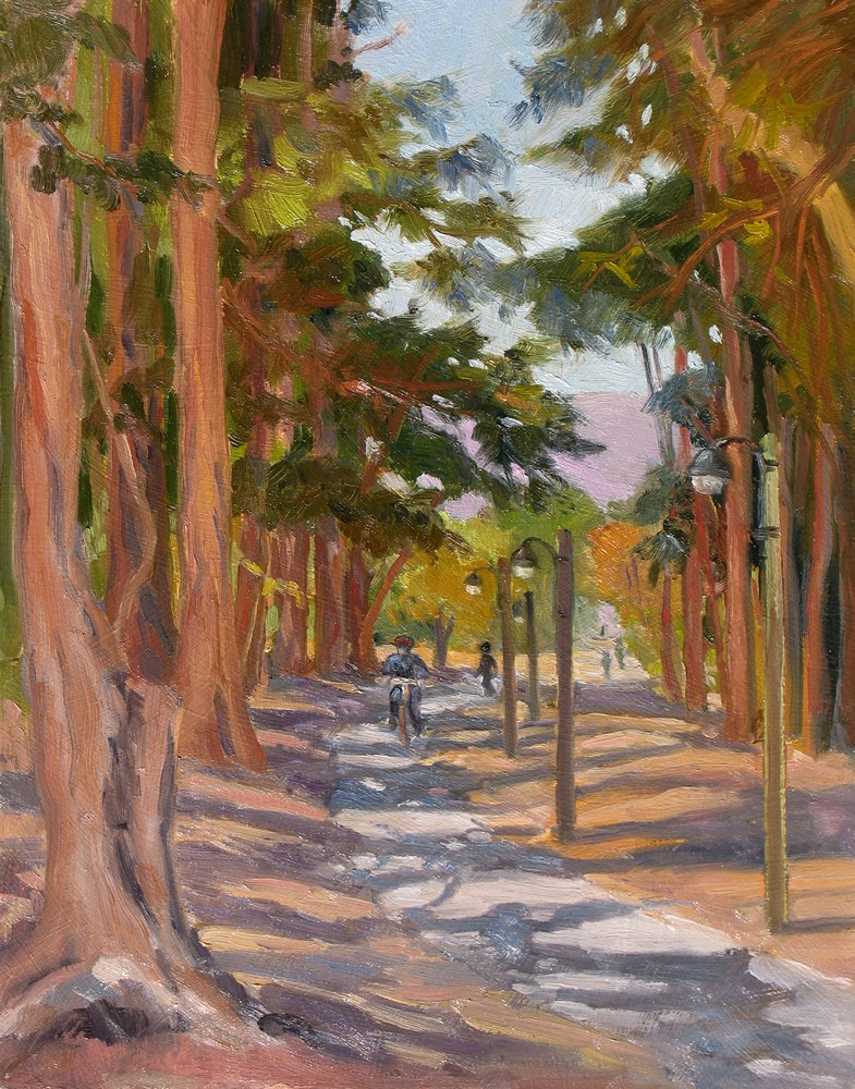 """Monterey Rec Path"" original fine art by Rhett Regina Owings"