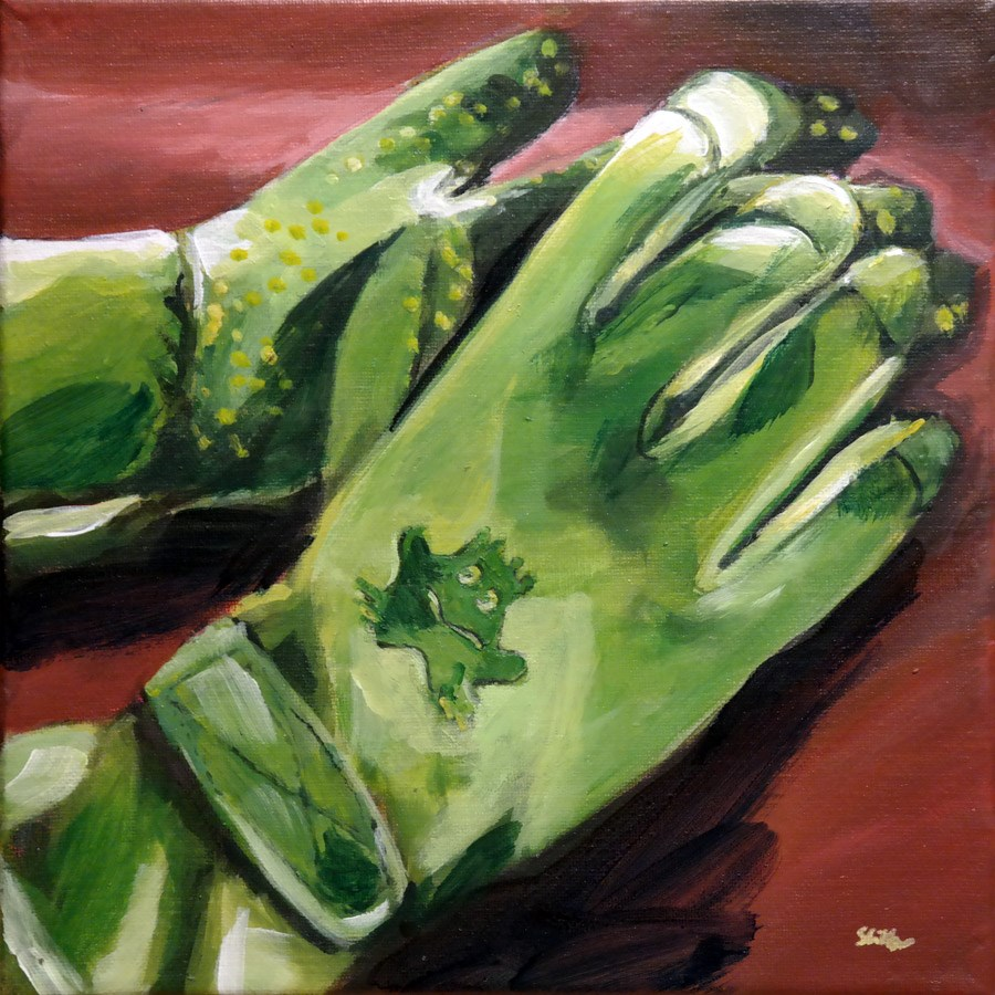 """1315 Women's Gardening Gloves"" original fine art by Dietmar Stiller"