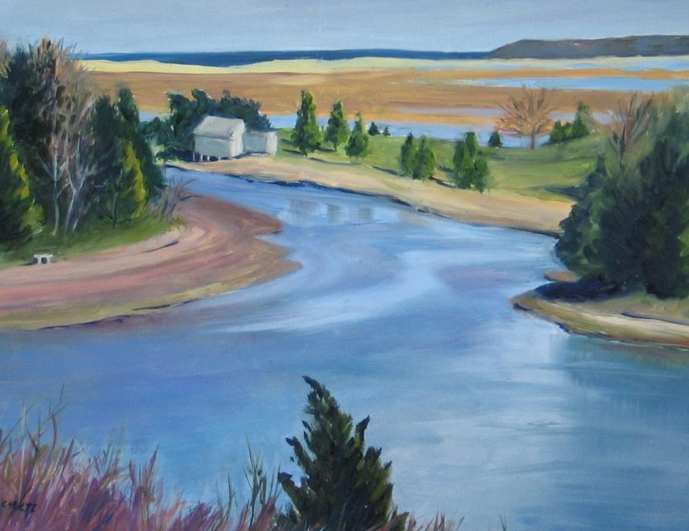 """""""Salt Pond View"""" original fine art by Lynne Schulte"""