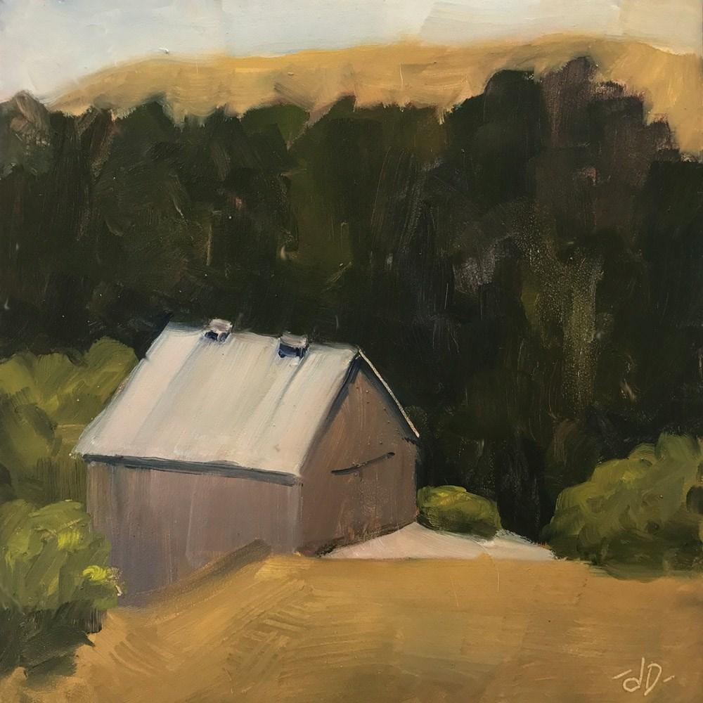 """""""Grey Barn"""" original fine art by Donna Dumont"""