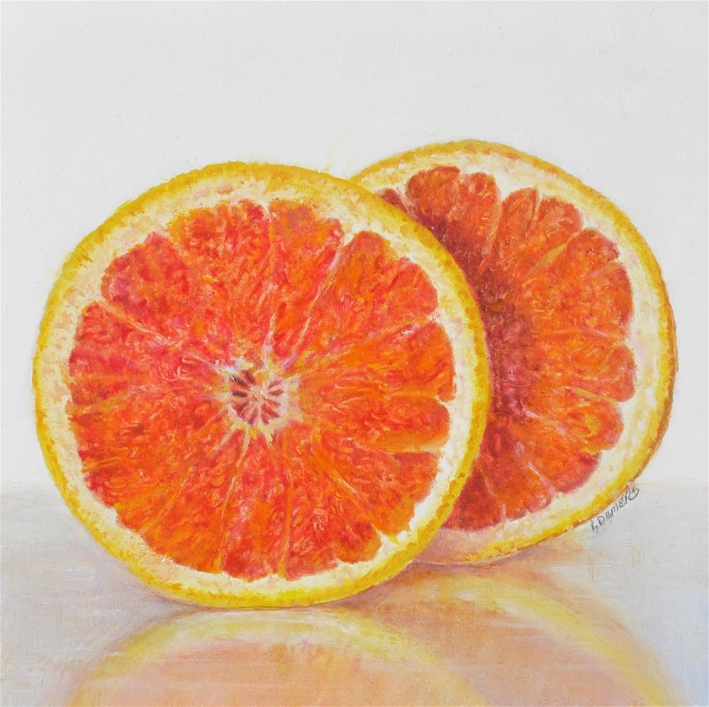 """Red Grapefruit"" original fine art by Linda Demers"