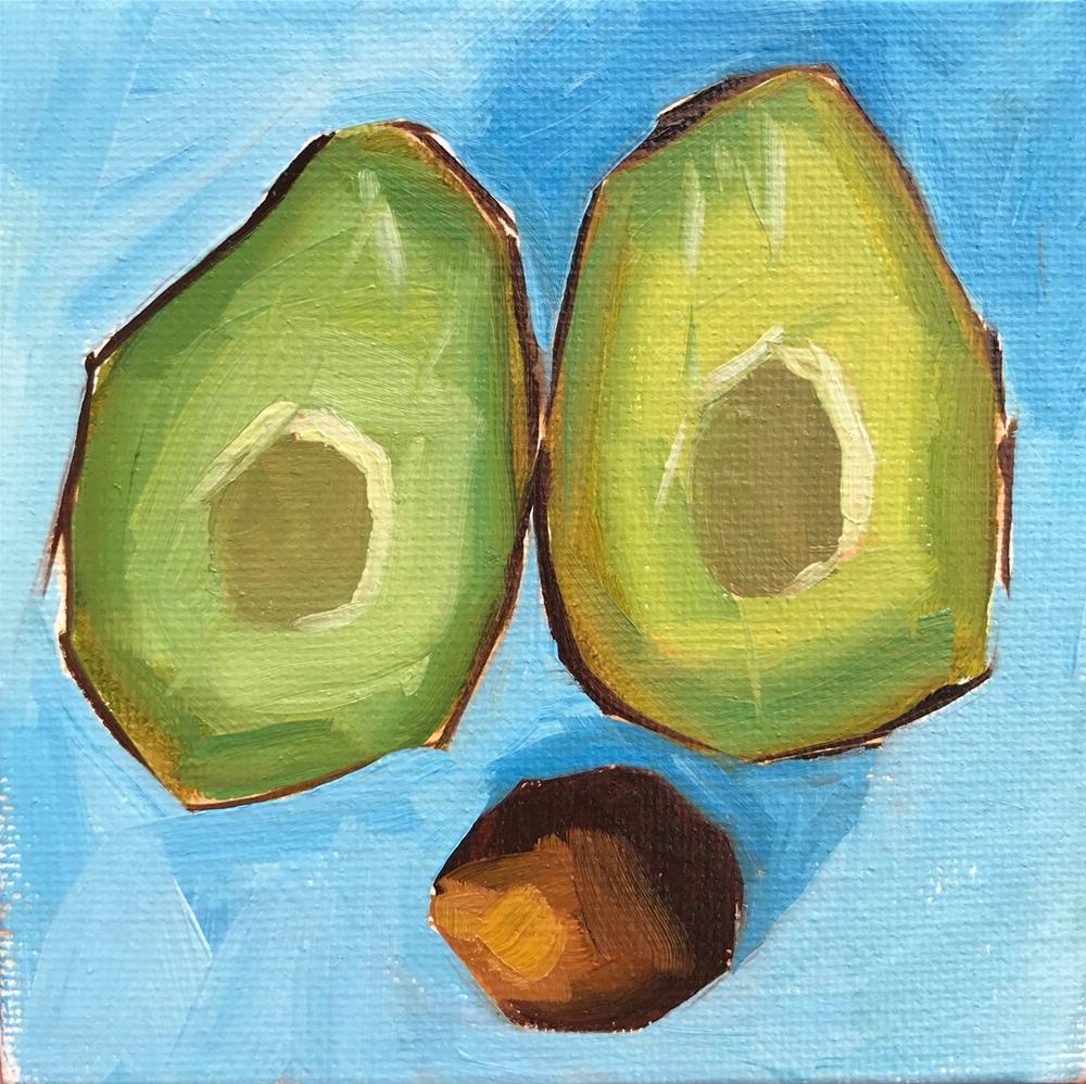 """""""Tiny Avocado"""" original fine art by Sharon Schock"""