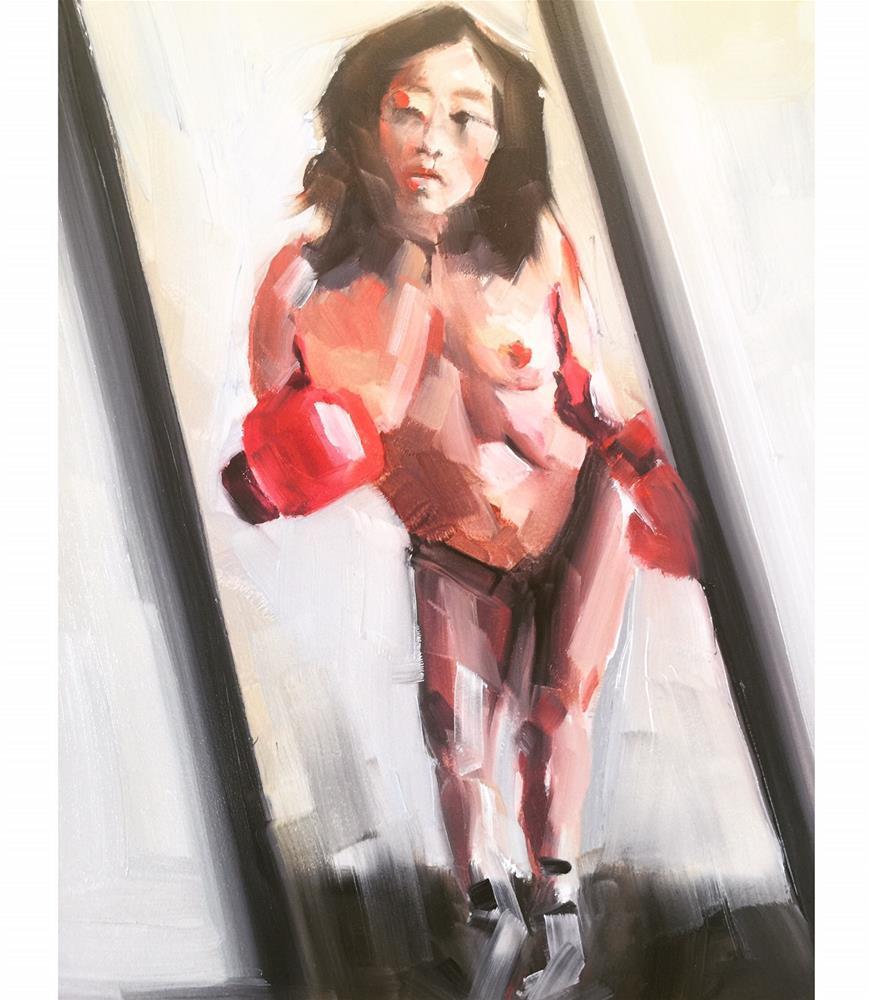 """""""529 Fight Like a Girl"""" original fine art by Jenny Doh"""