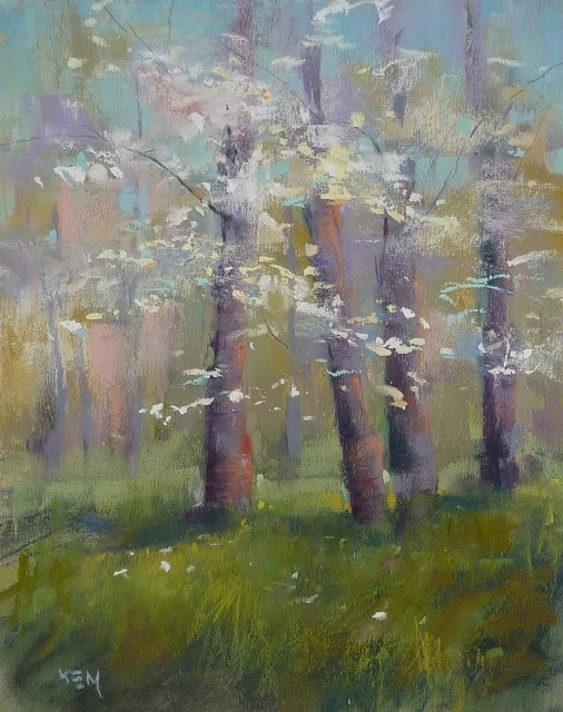 """Choosing a Spring Color Palette"" original fine art by Karen Margulis"