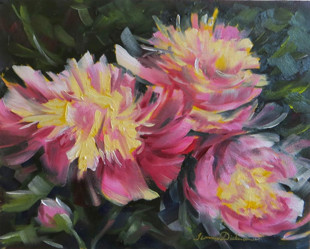 """Grandmother's Peonies"" original fine art by Tammie Dickerson"