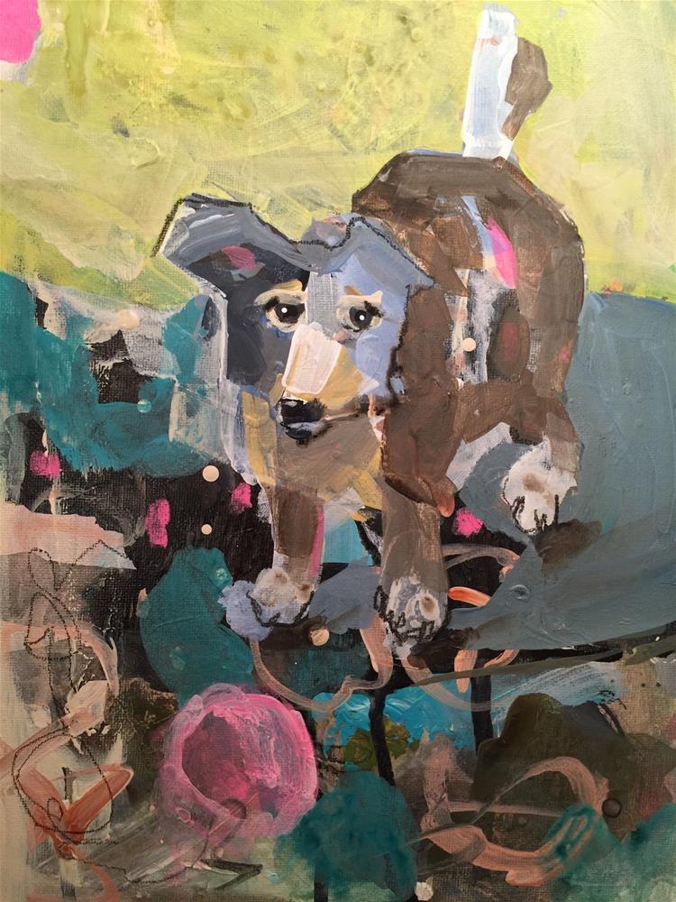 """""""157 Gypsy Dog"""" original fine art by Jenny Doh"""
