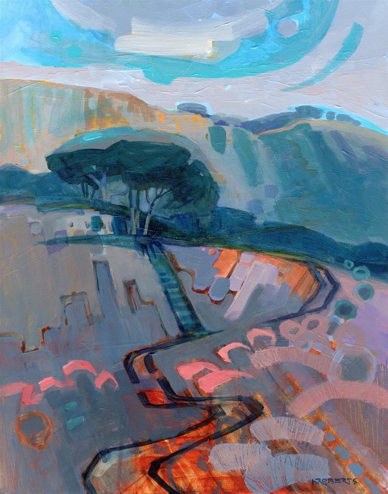 """Skyward"" original fine art by Nancy Roberts"