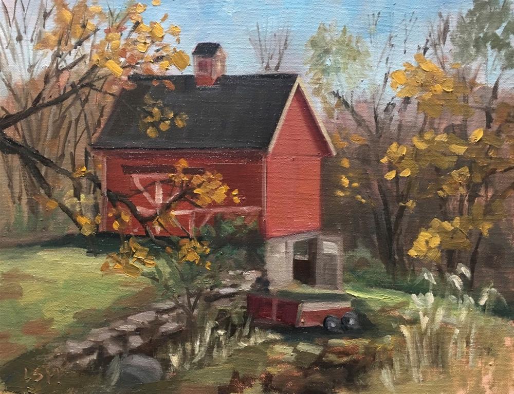 """Southbury Farm Fall Day"" original fine art by Linda Marino"