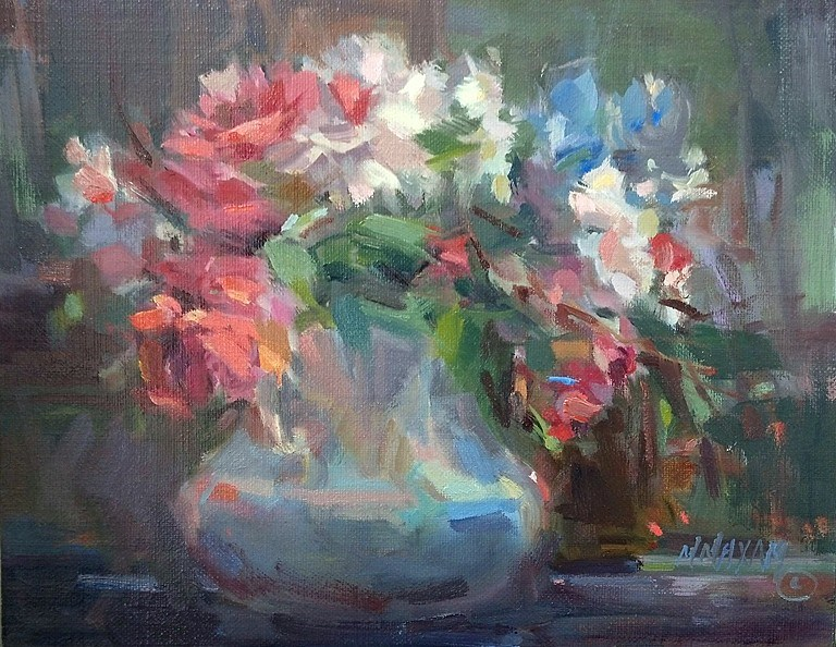 """Coral Bouquet"" original fine art by Mary Maxam"