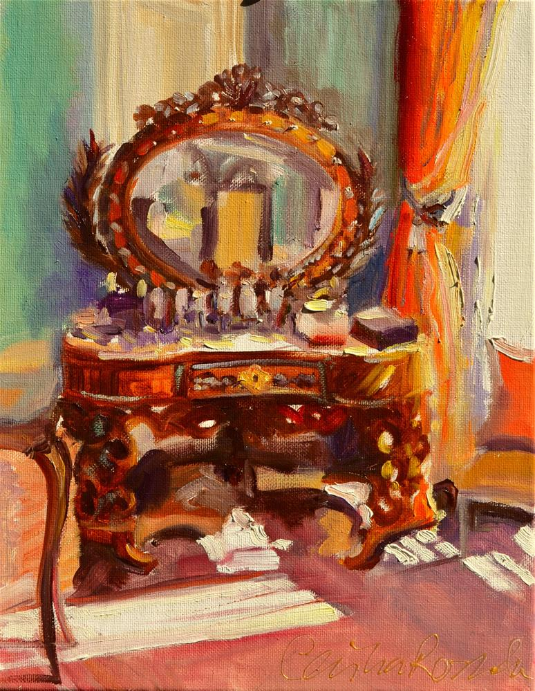 """""""FRENCH VANITY"""" original fine art by Cecilia Rosslee"""