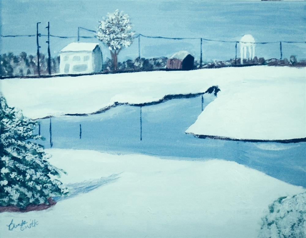 """Rural Indiana Snow"" original fine art by Brenda Smith"
