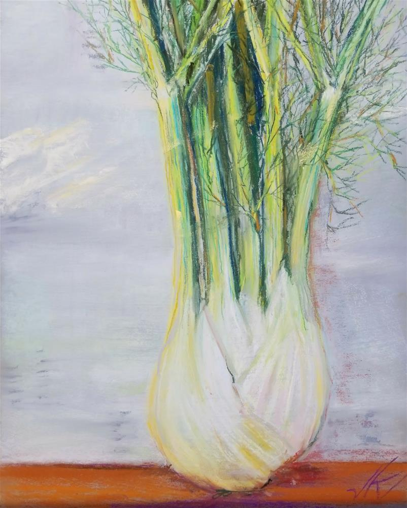 """FENNEL"" original fine art by Jean Krueger"
