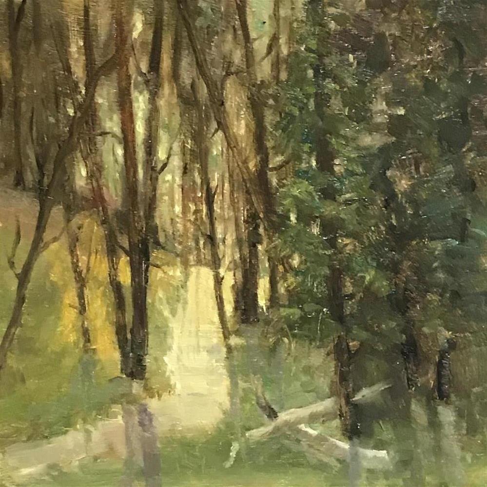 """Sunlit woods"" original fine art by Betty Argiros"