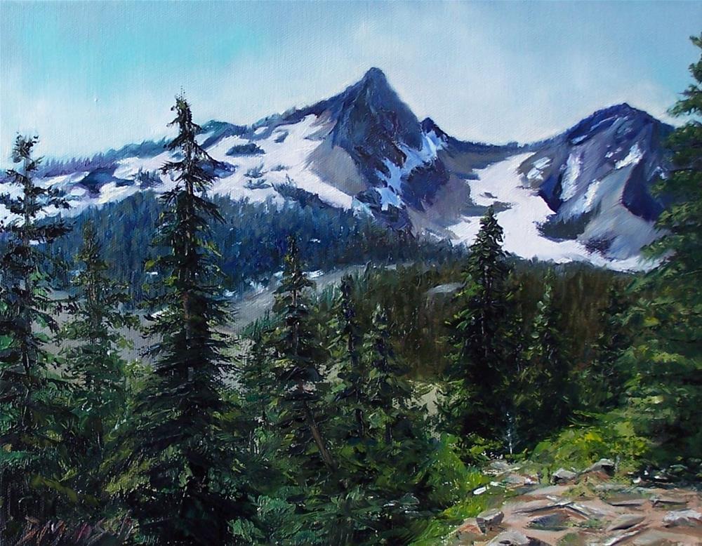 """""""Mountain Challenge"""" original fine art by Donna Munsch"""
